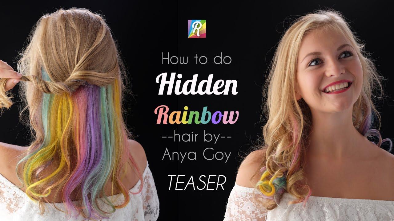 Pastel Hidden Rainbow Hair Video Tutorial Teaser Youtube