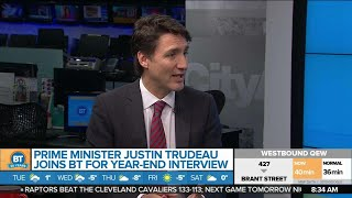 Prime Minister Justin Trudeau Joins BT for a Year-End Interview