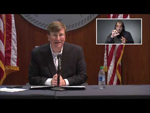 MPB LIVE: Governor Tate Reeves COVID-19 Update (7/27/2020)