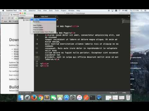 Making A Super Simple Web Page With Sublime Text