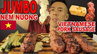 [MUKBANG] JUMBO NEM NUONG/VIETNAMESE PORK SAUSAGE+MELTED CHEESE-MASSIVE BITES