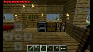 Выживание в Minecraft PE #3 Строим дом.