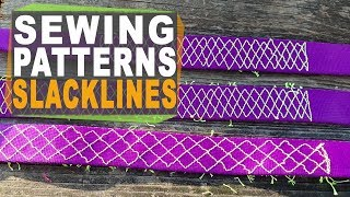Sewn Loop Patterns on webbing - what is the strongest pattern to sew loops on your slacklines?