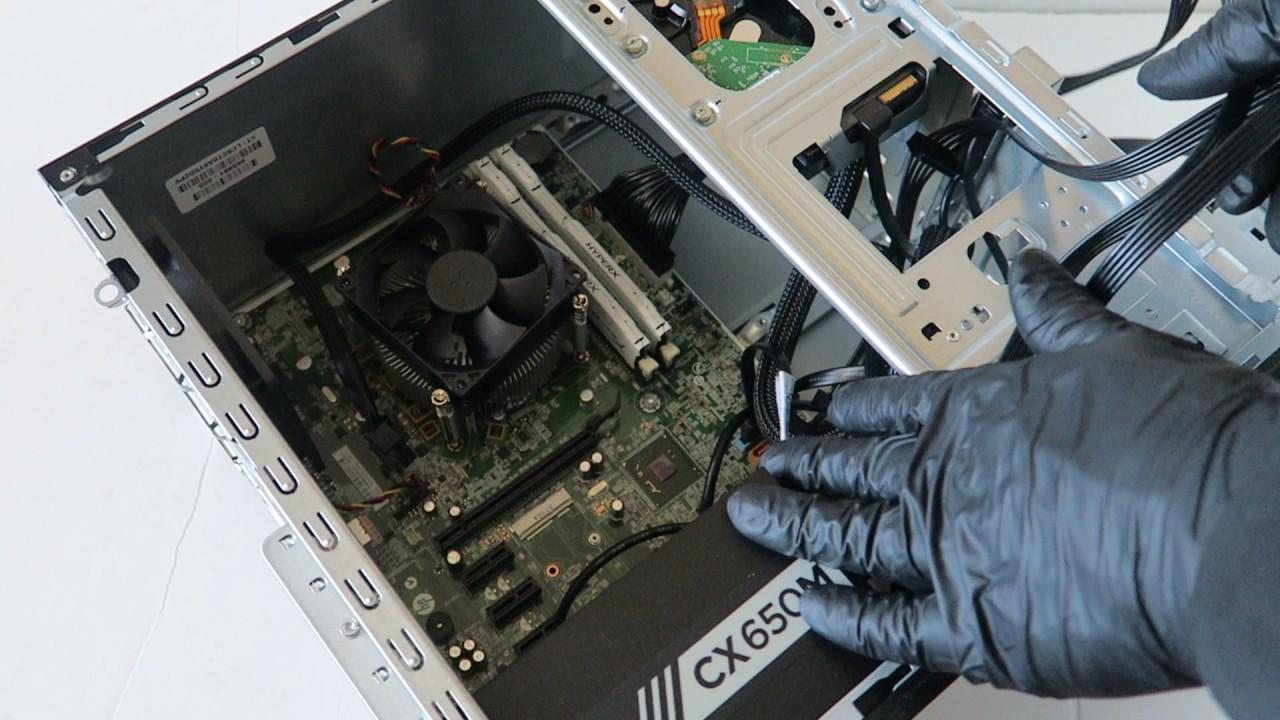 HP Pro 3500 Gaming Upgrade Video Card SSD RAM PSU - YouTube