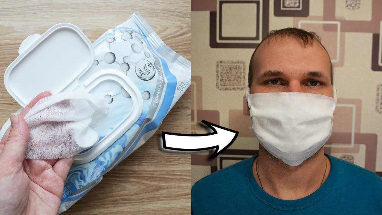 How to make MEDICAL MASK out of WET WIPES | Tutorial by NProkuda