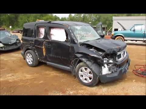 """Startup and Drive"" Wrecked 2011 Honda Element"