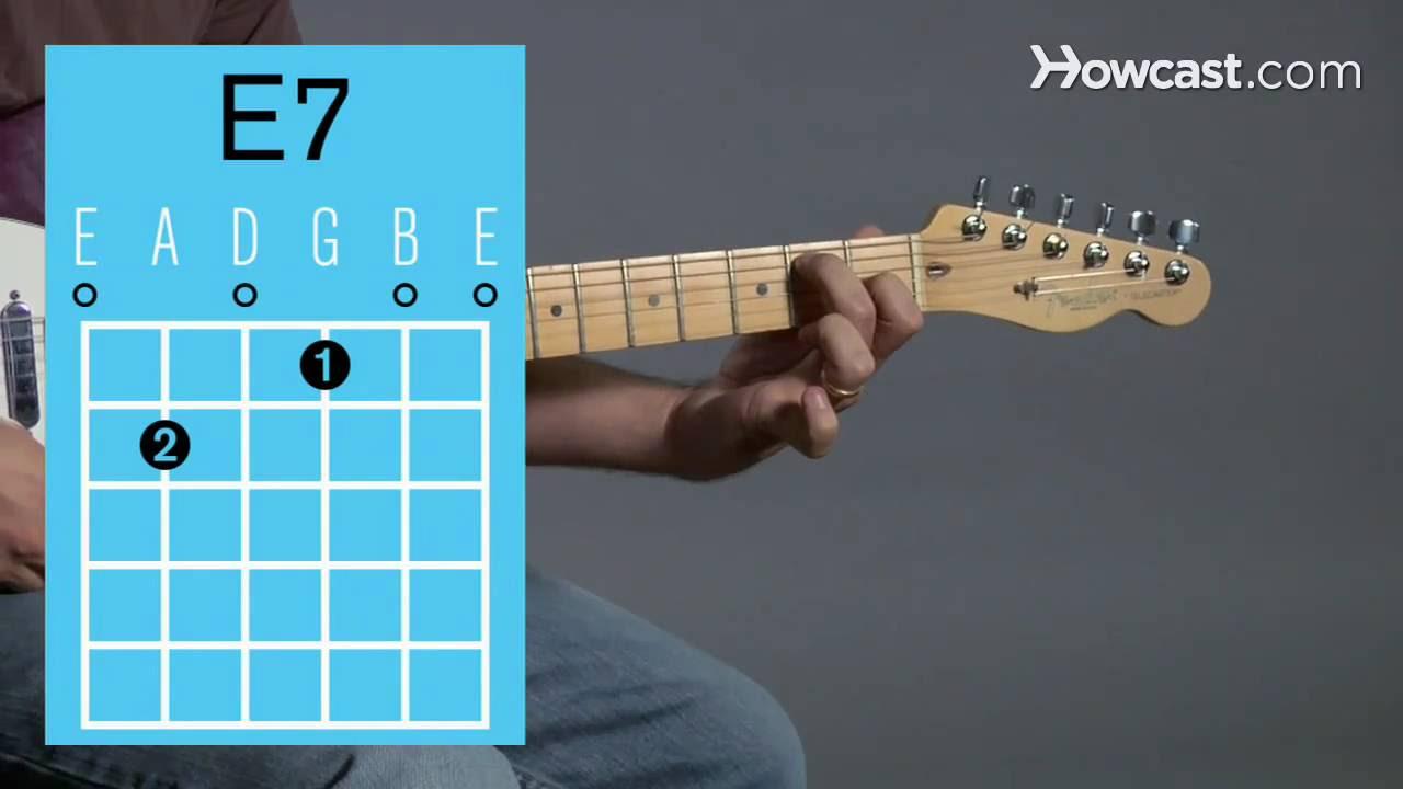 Gitarrenakkorde: E-Dur7 Akkord / E7 chord