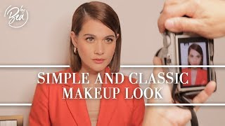SIMPLE AND CLASSIC MAKEUP LOOK By Bea