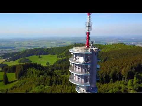 Швейцария с высоты #1. Швейцарский Грюйер. Грюйер. Switzerland, Gruyeres. La Gruyère. 4K Video
