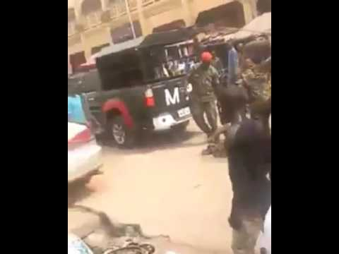 soldiers brutalized a disabled man for wearing camouflage in Onitsha, Anambra State Nigeria