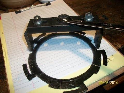 How To Make A Cheap Fuel Pump Locking Ring Removal Tool For A 2006 Hyundai Sonata