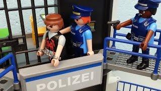 Ausbruch aus dem Gefängnis Playmobil Film seratus1 Polizei Kommando Zentrale