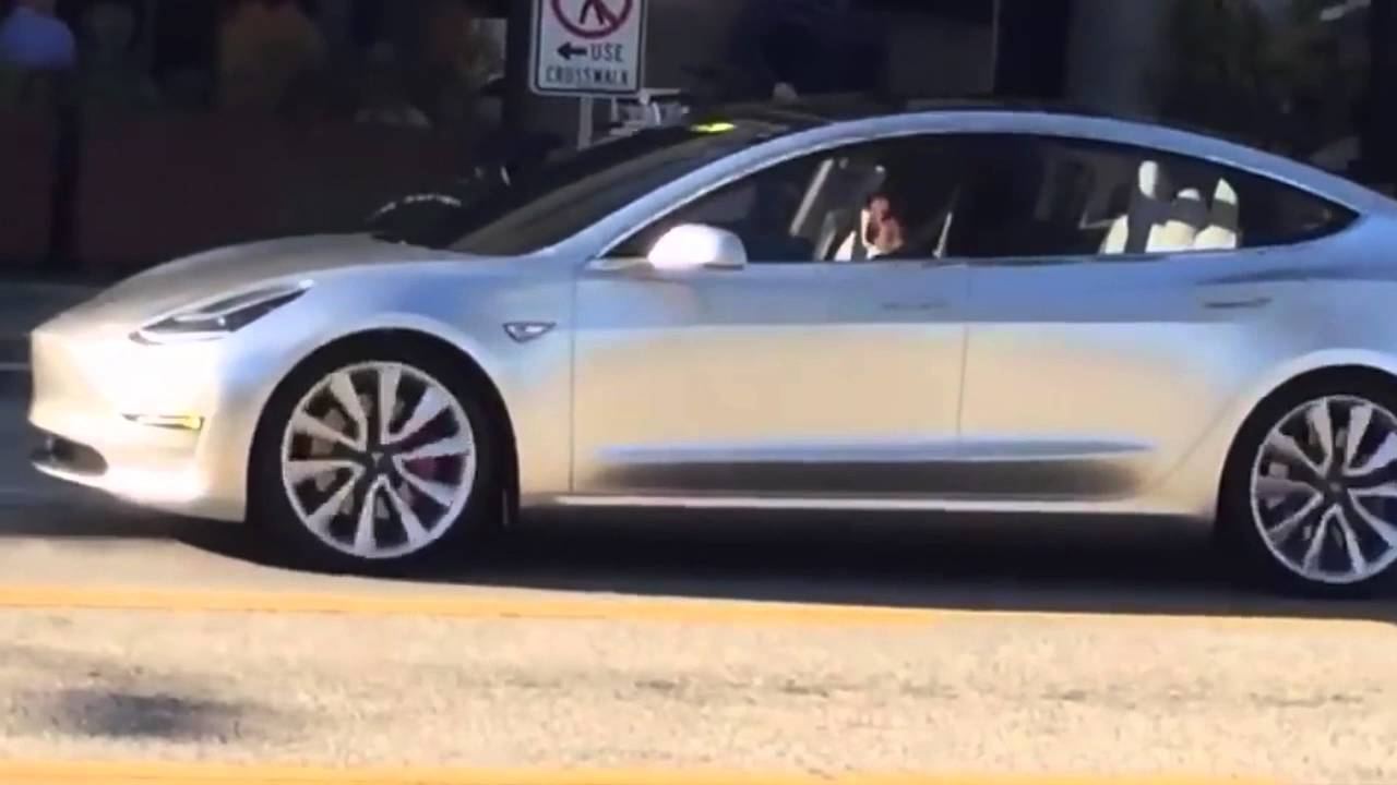 SPOTTED: Tesla Model 3 Driving On the Street - YouTube