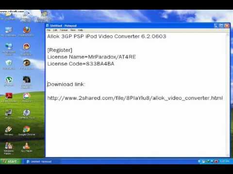 Allok 3gp Psp Mp4 Ipod Video Converter 6 2 0603 Latest