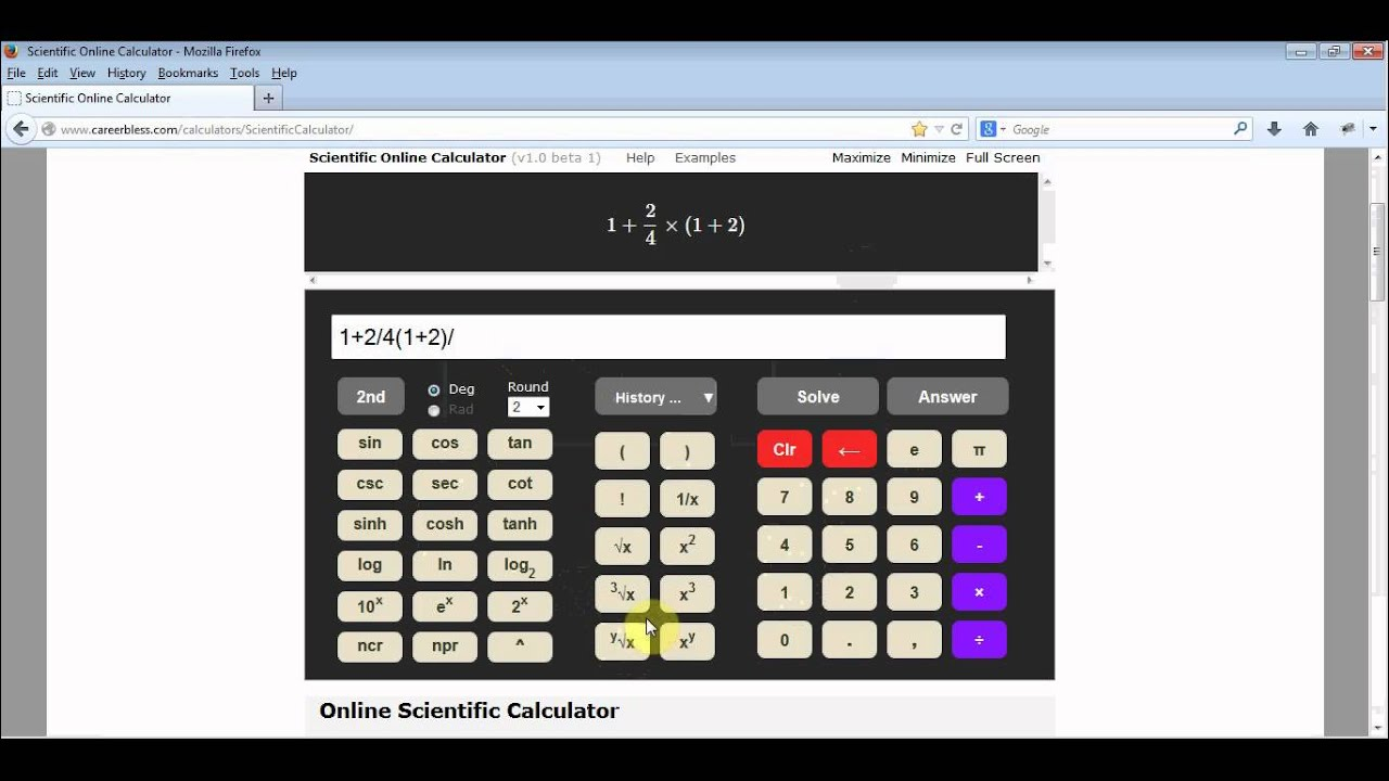 Scientific Calculator - Step by Step Solution to Mathematical Expressions  Online