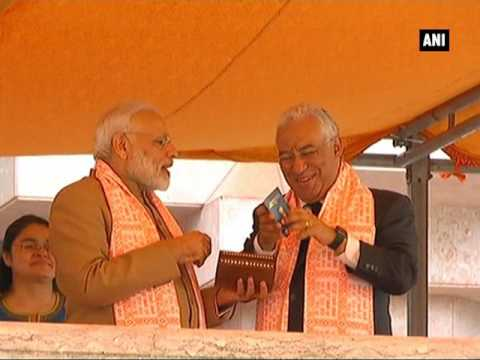 PM Modi presents 'Overseas Citizen of India' card to Portuguese PM Antonio Costa - ANI News