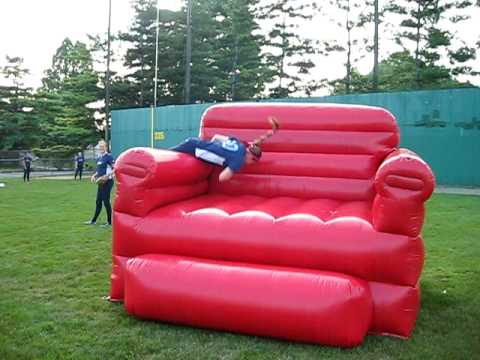How To Jump Onto a Giant Inflatable Chair  YouTube