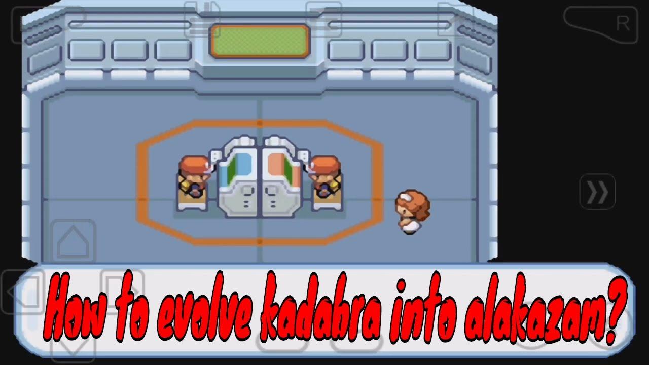 how do you make kadabra evolve into alakazam