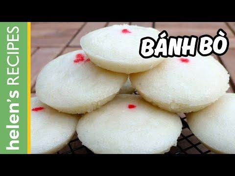 Bánh bò - Vietnamese Steamed Rice Cake (Cow cake)