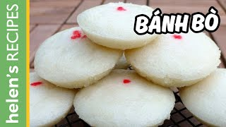 One of Helen's Recipes (Vietnamese Food)'s most viewed videos: Bánh bò - Vietnamese Steamed Rice Cake (Cow cake)