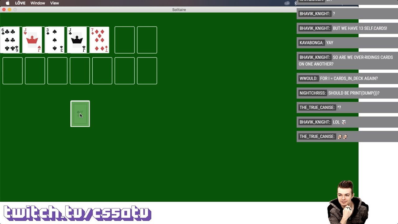 SOLITAIRE FROM SCRATCH! - CS50 on Twitch, EP  39