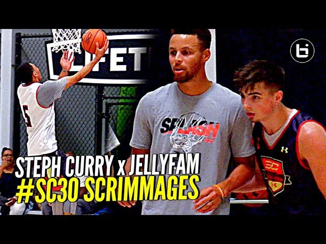 ed906b48d37 Poor Jordan McCabe, a 2018 prospect committed to West Virginia, drew the  short straw and had to guard Curry in the competition. But overall he held  his own, ...