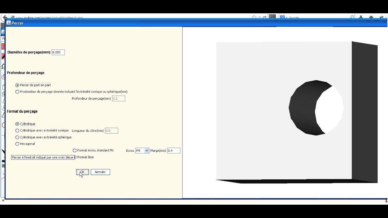 Crobics logiciel de dessin 3d tutoriel commandes de for Logiciel de dessin 3d