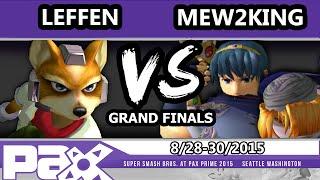 PAX Prime 2015 - Mew2King (Sheik, Marth) Vs. Leffen (Fox) - Grand Finals