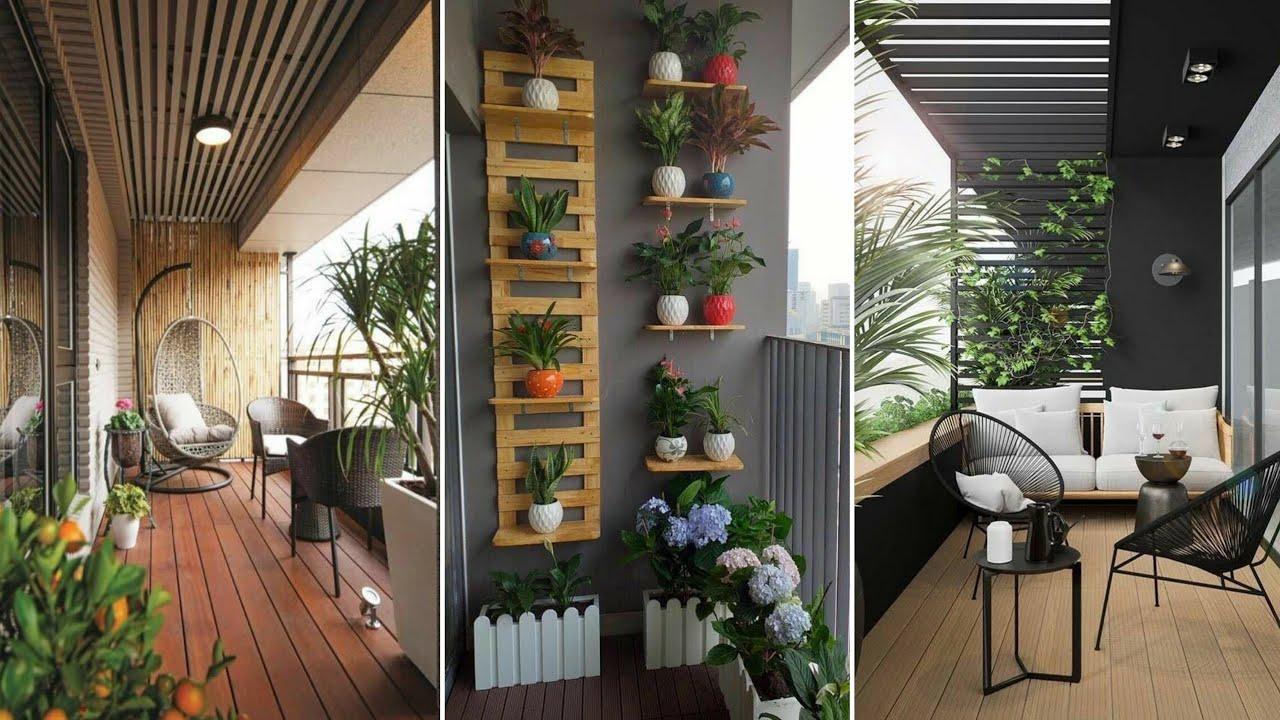 Top 100 small balcony decorating ideas 2021 - YouTube