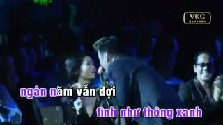 Viet Karaoke | Karaoke Ngàn năm vẫn đợi Đàm Vĩnh Hưng | Karaoke Ngan nam van doi Dam Vinh Hung