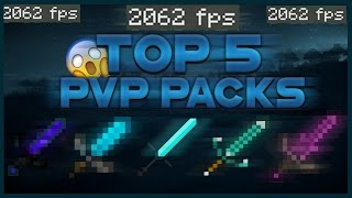 TOP 5 MINECRAFT PVP TEXTURE PACKS 2016!(FPS BOOST/NO LAG 1.8/1.9/1.10)(Best Minecraft PvP Packs)