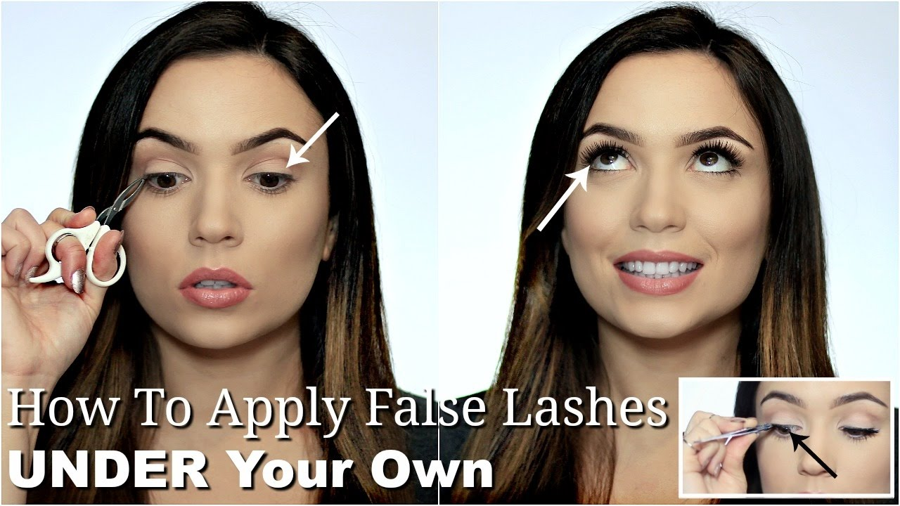 76a01537b89 How To Apply False Lashes UNDER Your Lashes | Reverse Eyelash Trick Makeup  Hack - YouTube