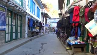 An afternoon stroll on the streets of Lukla