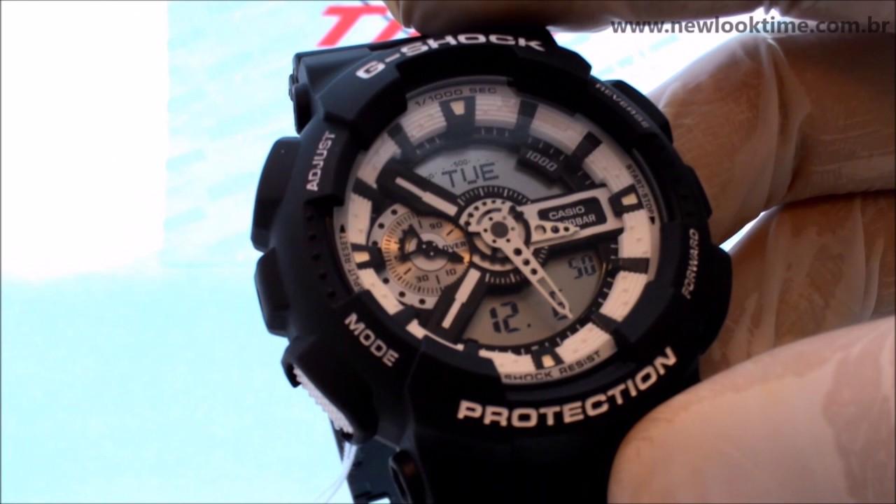 cc4797976e3 Relógio CASIO G-Shock GA-110BW-1ADR - New Look Time Relógios - YouTube