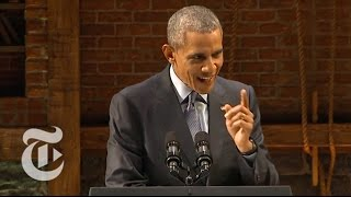 Obama Ridicules Republican Candidates | Election 2016 | The New York Times