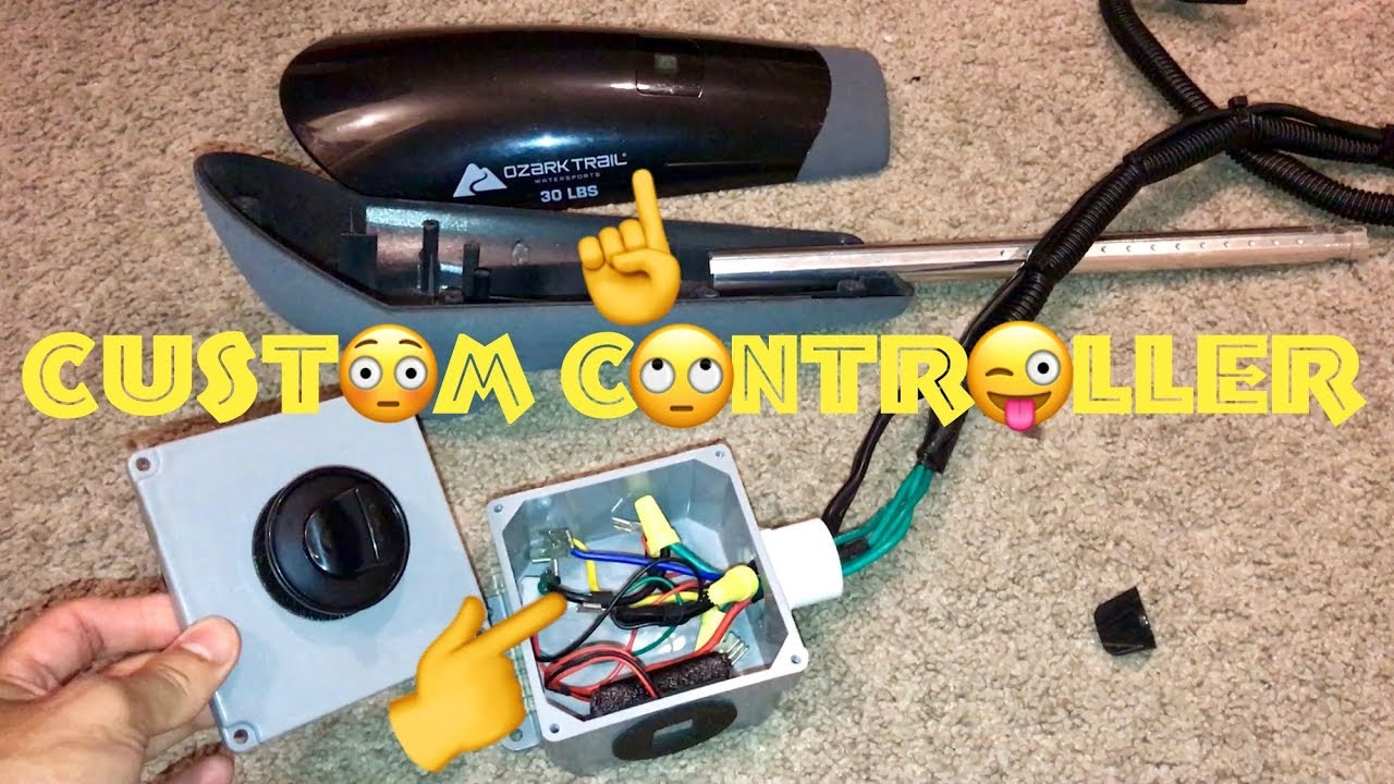 trolling motor speed controller customized for a motorized kayak rh youtube com