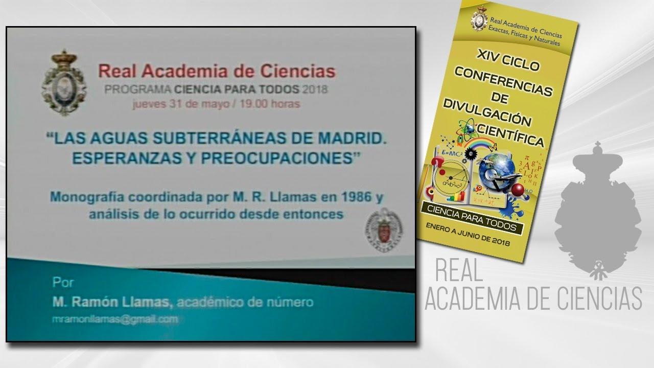 M. Ramón Llamas Madurga, 31 de mayo de 2018.19º conferencia delXIV CICLO DE CONFERENCIAS DE DIVULGACIÓN CIENTÍFICA.CIENCA PARA TODOS 2018http://www.rac.eshttps://twitter.com/racienciashttps://arac.rac.es/