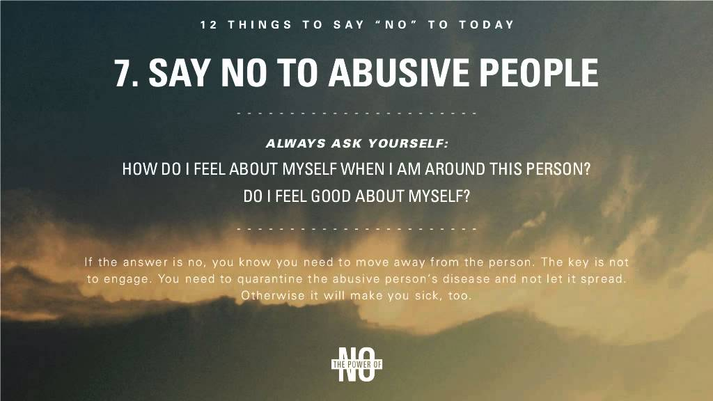 The Power of No 12 Things to Say \u201cNo\u201d To Today - YouTube
