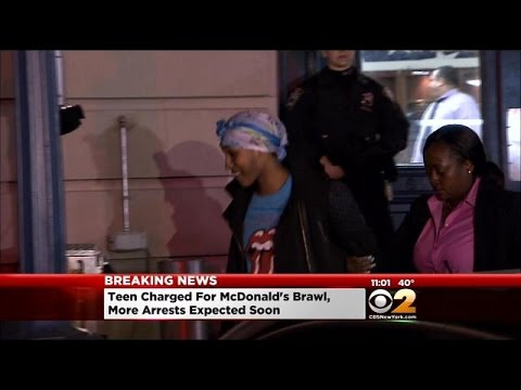 Teen In Cuffs After McDonald's Melee