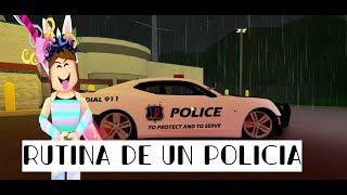 THE RUTINE OF A POLICE // ULTIMATE DRIVING // ROBLOX