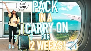 How To Pack in a Carry On for 2 Weeks! What I Bring & Packing Tips! | Jeanine Amapola