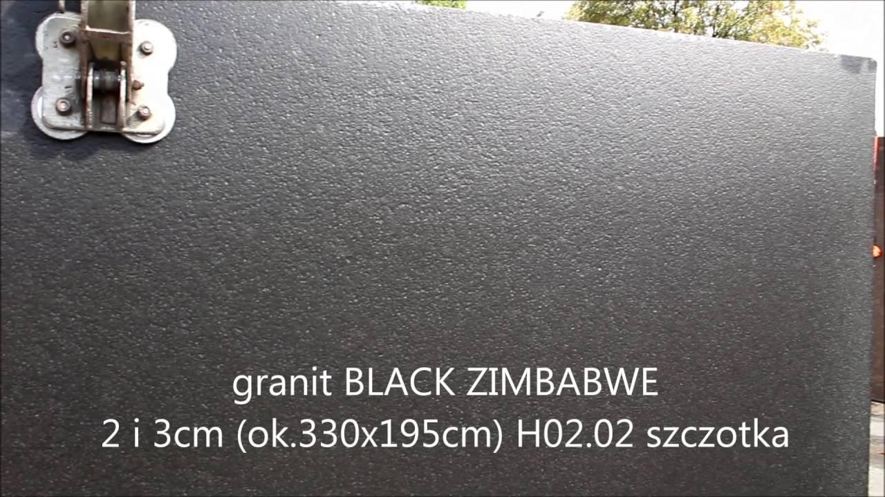 granit BLACK ZIMBABWE 2 i 3cm H02.02 szczotka - YouTube