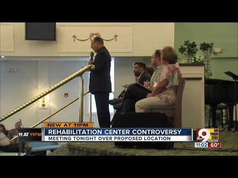 Mayor spars with former drug users about rehab center