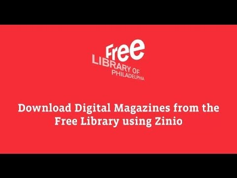 Download Digital Magazines with Zinio and the Free Library