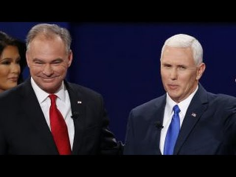 Vice presidential nominees spar in only debate