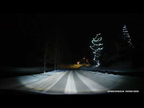Arrival to Whistler at 6:00am Feb 23/2018. A new HID front lights on my FJ Cruiser.