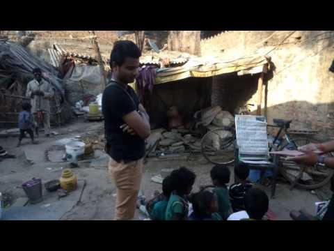 Chhittupur Slum area where Mahamana Maitri Mission(BHU) run free teaching classes for poor children