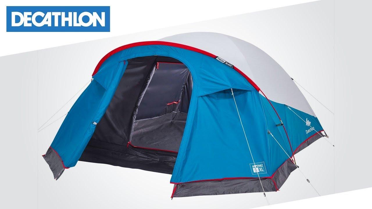 0afa10cd2 Tenda da campeggio ARPENAZ 3 XL Fresh Black Quechua