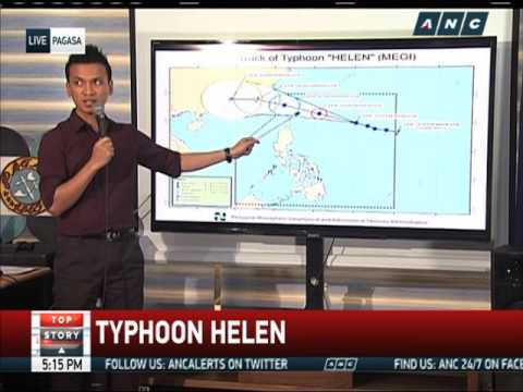 2 areas under signal no. 1 as 'Helen' slightly intensifies