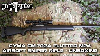 airsoft Bolt Action Sniper Rifle - Unboxing, Assembly & Chrono - CYMA CM.702A M24 - BB Gun cm702a